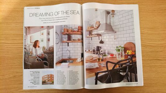 House Beautiful magazine, February 2019, flat renovation, bedroom makeover, bathroom makeover