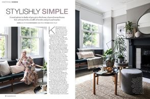 House Beautiful, September 2020, monochrome interiors, black & white, house project, makeover