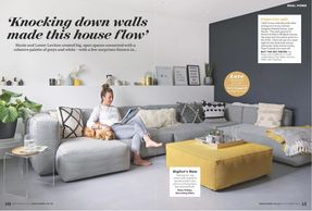 Ideal Home, September 2019, kitchen extension, grey interiors, house project, velvet chair, designer