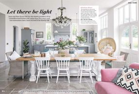 Ideal Home, April 2020, house renovation, period property, pink interiors, grey kitchen, shaker