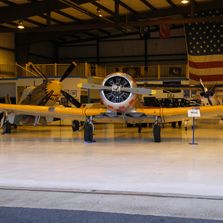 Our hangar is full of history! Featured here is our 1944 AT-6 Texan !