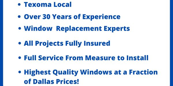 Fully Insured Full Service Texoma Local Lowest Cost Lifetime Guarantee
