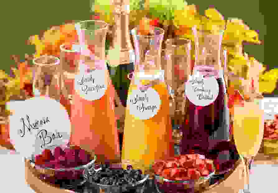 Mimosa Bar for Spa Party Bridal and Wedding Party Estes Park