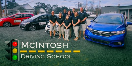 Staff for McIntosh Driving School. McIntosh Driving School offers drivers education and the DMV