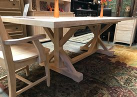 Plantation Dining Collection X Frame Table