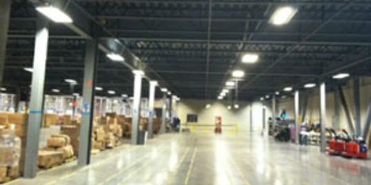 Warehouse with LED Fixtures