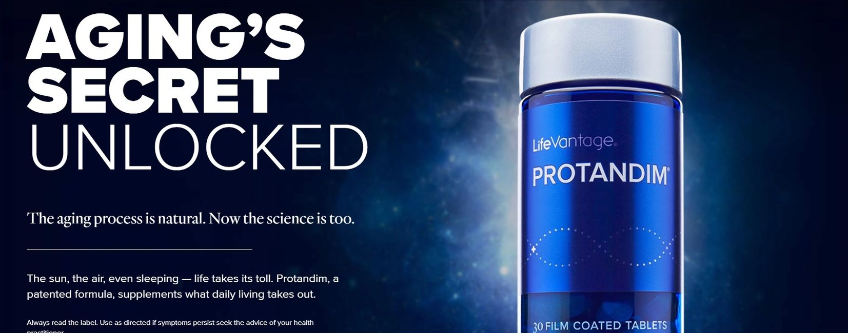 LifeVantage products Protandim and TrueScience anti-aging from inside out and outside in personally