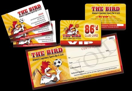 Professional Design corporate ID Identification menu printing discount cards paper roswell atlanta