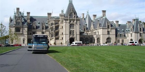 Parked in front of the Biltmore Estate in NC.