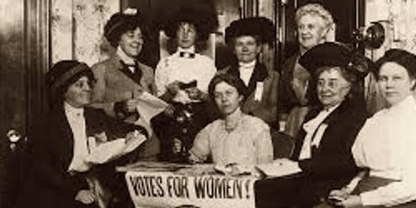 California women Suffragette Meeting. Courtesy of the California Historical Society.