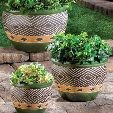 Jade Planter Set