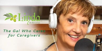 Host of the radio show, Connecting Caregivers, Linda Burhans