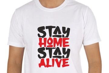 Stay home stay alive printed t-shirts delhi - noida - gurgaon