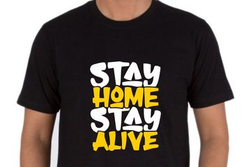STAY HOME STAY ALIVE T-SHIRTS PRINTING IN DELHI