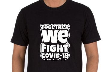 Together We Fight Covid - 19 T-Shirts Printed online. Discount Available on Bulk Orders