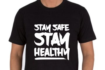 Stay Safe Stay Healthy T-Shirts Printing in Delhi