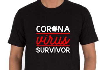CORONAVIRUS SURVIVOR T-SHIRT PRINTED ONLINE SELLER