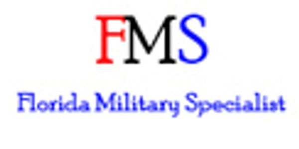 Letters FMS and Florida Military Specialist logo.