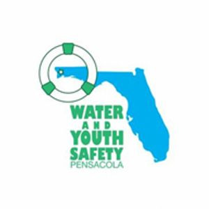 Logo of Water And Youth Safety Pensacola a non-profit. Jack Lynch is the WAYS Pensacola president.