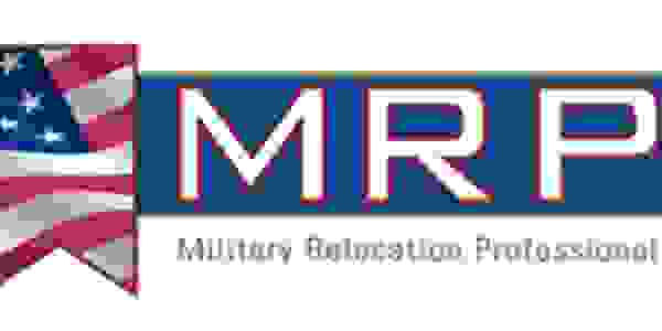 Military Relocation Professional logo shows the name and a banner with a portion of the U. S. flag.