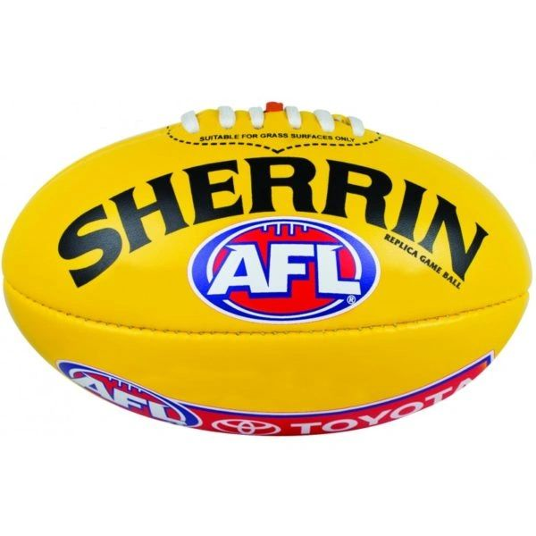 Sherrin football with AFL logo