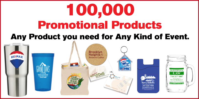 Over one hundred thousand promotional products available.
