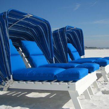 beach rental, cabana beach loungers, beach loungers, beach chair chairs, beach siesta key, sarasota