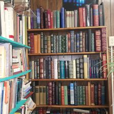 We have lots of cozy nooks filled to the brim with books.