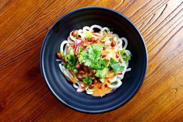 Mr. Peanut - Udon Noodles, Cucumber, Onions with Peanut Sauce