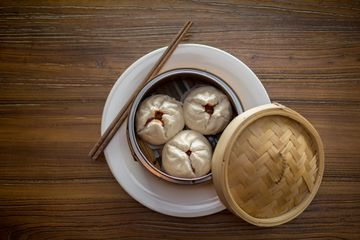 Pork Buns (Steamed) - Chinese Bao, Stuffed with Sweet Roasted Pork