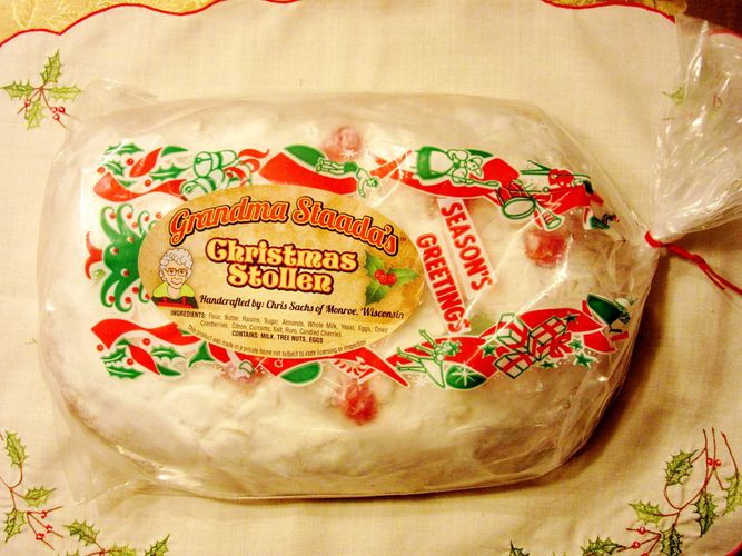 Grandma Staada's Christmas Stollen packaged and ready to ship.