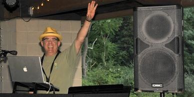 DJ JoBlo entertain at a kids pool party