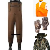 waders camo jacket pants gloves blaze orange