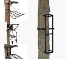 treestands climbers hang on stagger steps muddy back country ladder stands