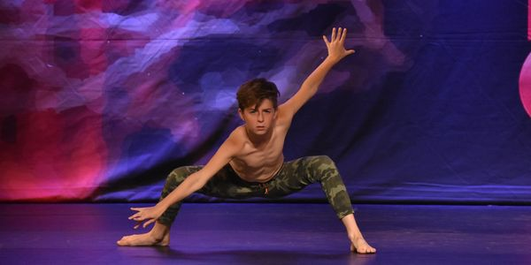 Wyatt Moss competitive dancer and actor dancing solo at dance competition Canada