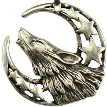 Howling Moon Celestial amulet howling wolf will aid you in calling upon the Moon and Goddess.