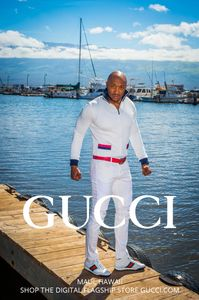 Advertisement with Gucci.com - D. Hall Celebrity Supermodel & Actor