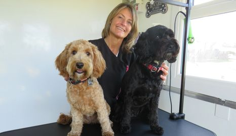 Teri with her two dogs