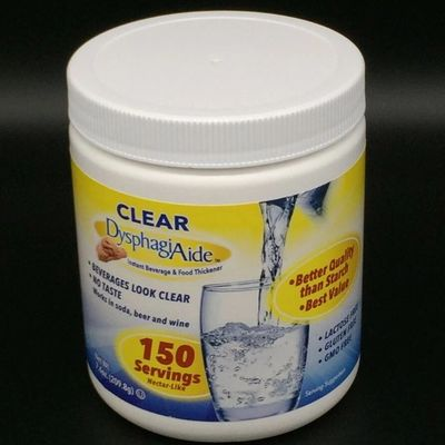 150 Serving Jar of Clear DysphagiAide sold on Amazon and at Walmart.