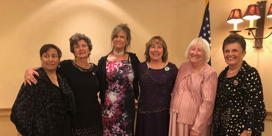 2018 - 2020 GFWC New Mexico Officers and the 2016 - 2018 Past International President, Sheila Shea.