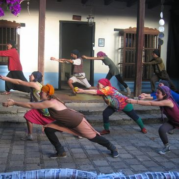 Dance of Life, clown performance workshop in San Cristobal de las Casas, Chiapas, Mexico.
