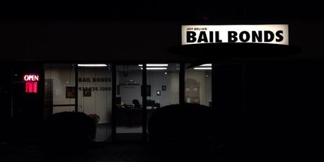 Jeff Brown Bail Bonds 32 N. Wilkinson night photo.