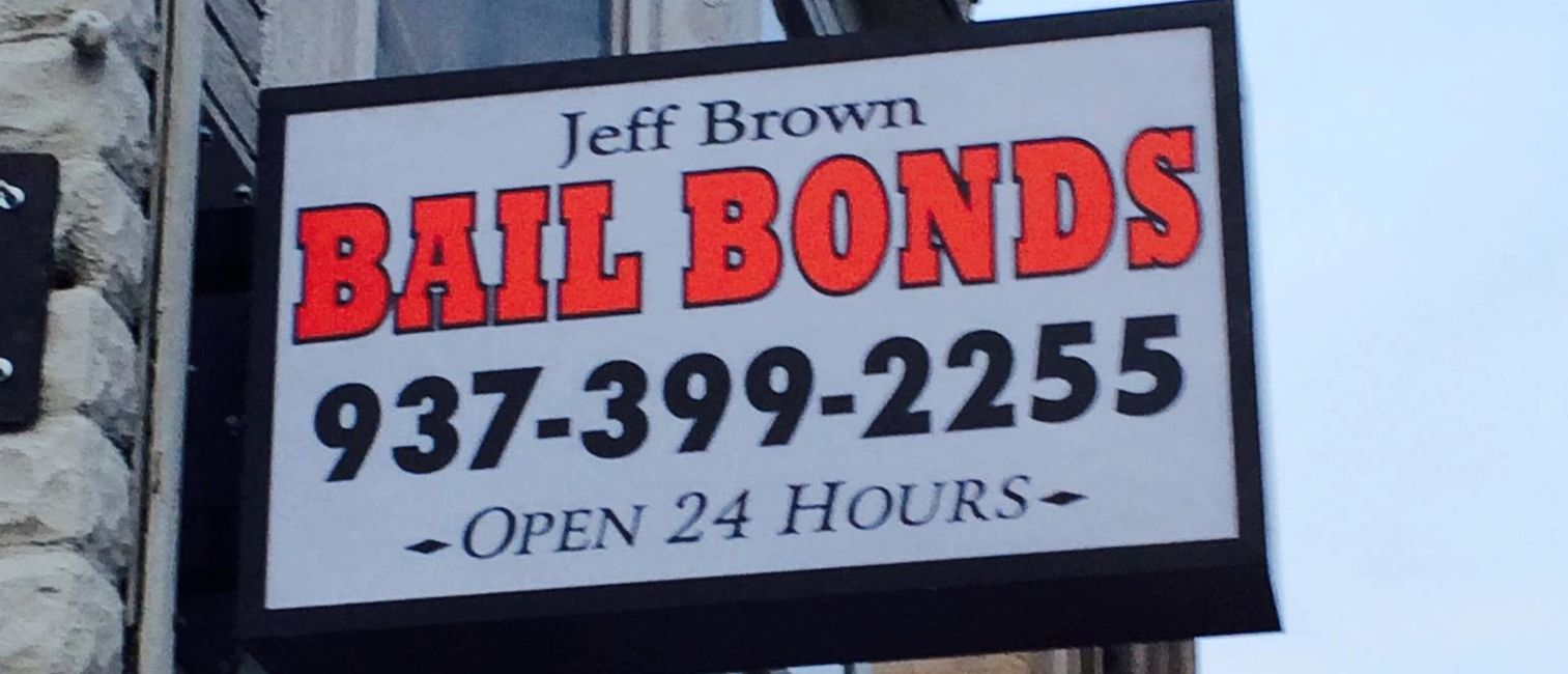 Jeff Brown Bail Bonds   Call 937-399-2255 -   Address:12 W. Columbia  Springfield Ohio 45502.