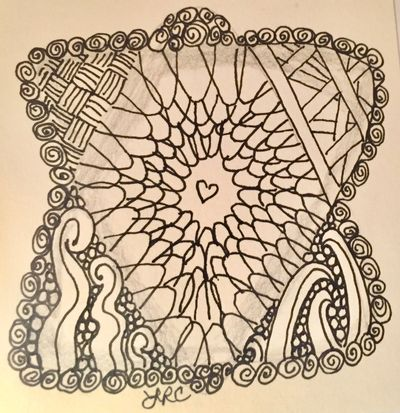 A simple Zentangle by Lana Castle