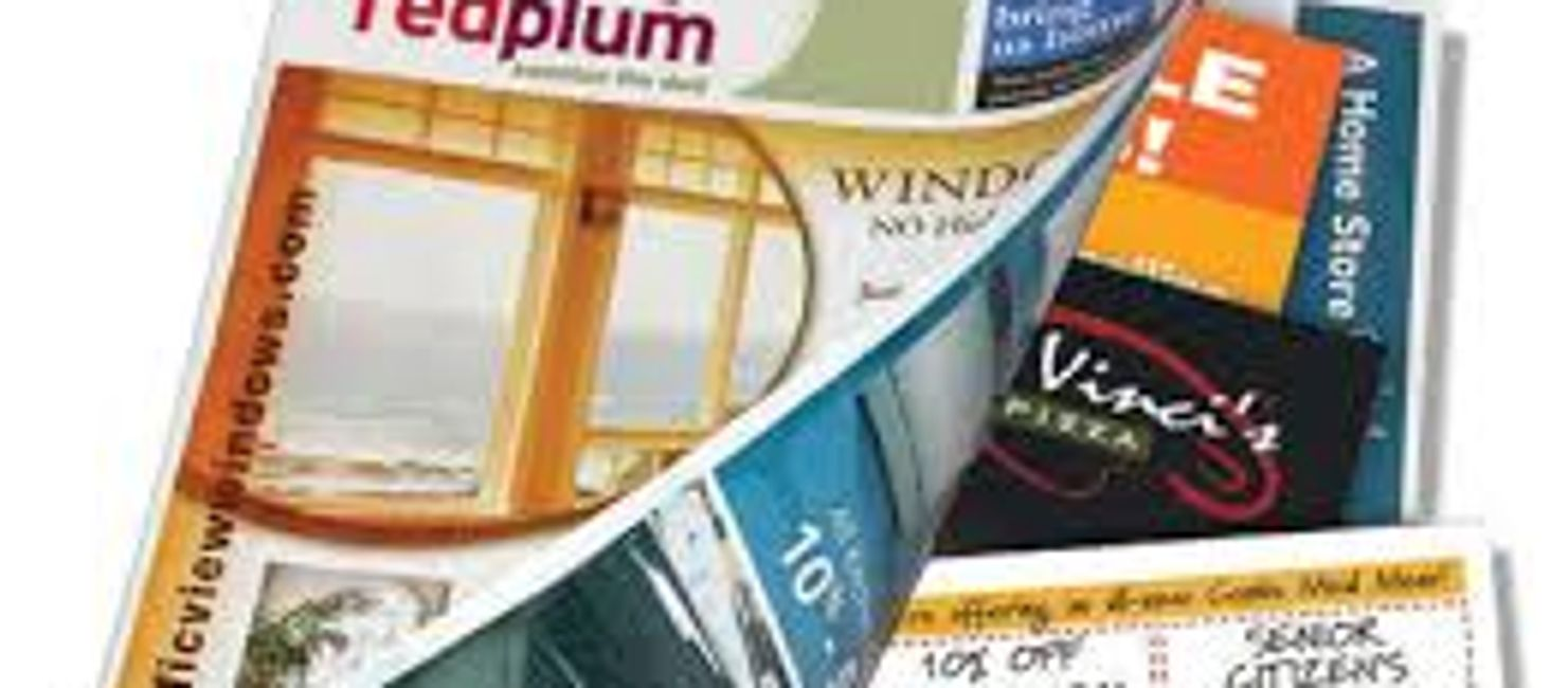 insert media, on-page print, coupons, direct mail, postcard, inserts