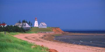 PEI north shore, provincial park lighthouse