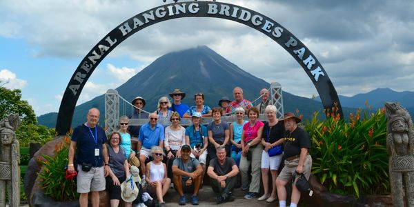 Older adults from Ela Township traveling through Costa Rica.