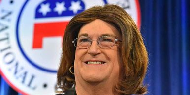 Gina Roberts was the first transgender delegate at February's California Republican Convention.