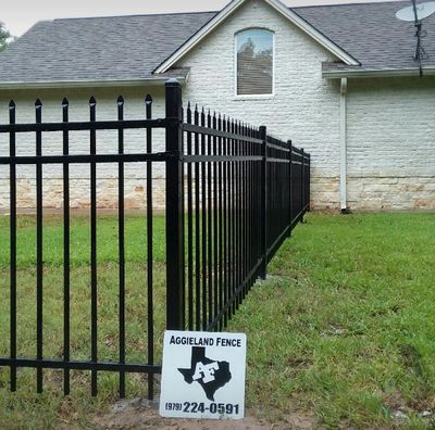 Ornamental iron fencing in College Station