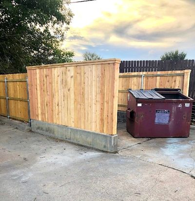 Dumpster enclosure in College Station